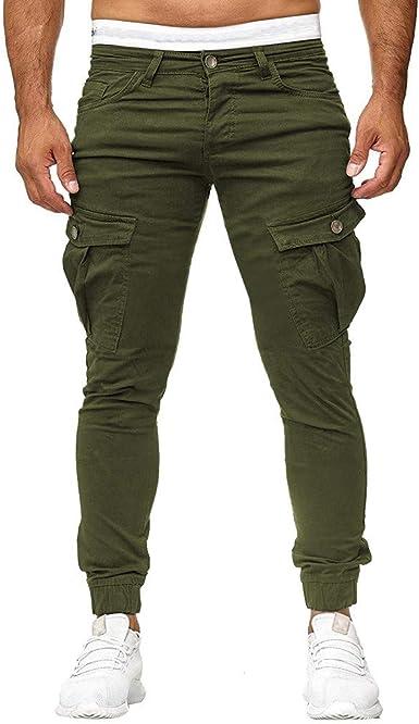 MrTom Pantalones Deportivos Hombre Pitillo Pantalón de Chandal Jogger Trekking Pantalon Chino Casual Deporte Cargo Largos Algodón Elástico Slim Fit XT049: Amazon.es: Ropa y accesorios