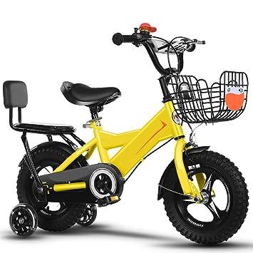 XBNH Bicicleta para Niños 2-4-6-7-8-9-10 Años Bicicleta De Montaña para Niño 12/14/16/18 Pulgadas con Rueda Auxiliar (Tamaño: 16 Pulgadas): Amazon.es: Hogar