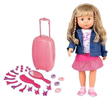 Puppen & Zubehör Bayer Design 94635 46cm Charlene Funktionspuppe mit Haaren und Schlafaugen günstig kaufen Babypuppen