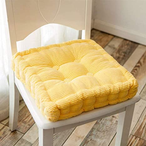 Amazon.com: Cojín de asiento grueso, cojín para silla, cojín ...