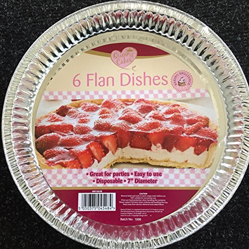 "Home Maid 6 Pack Foil Flan Dishes 7"" Diameter"