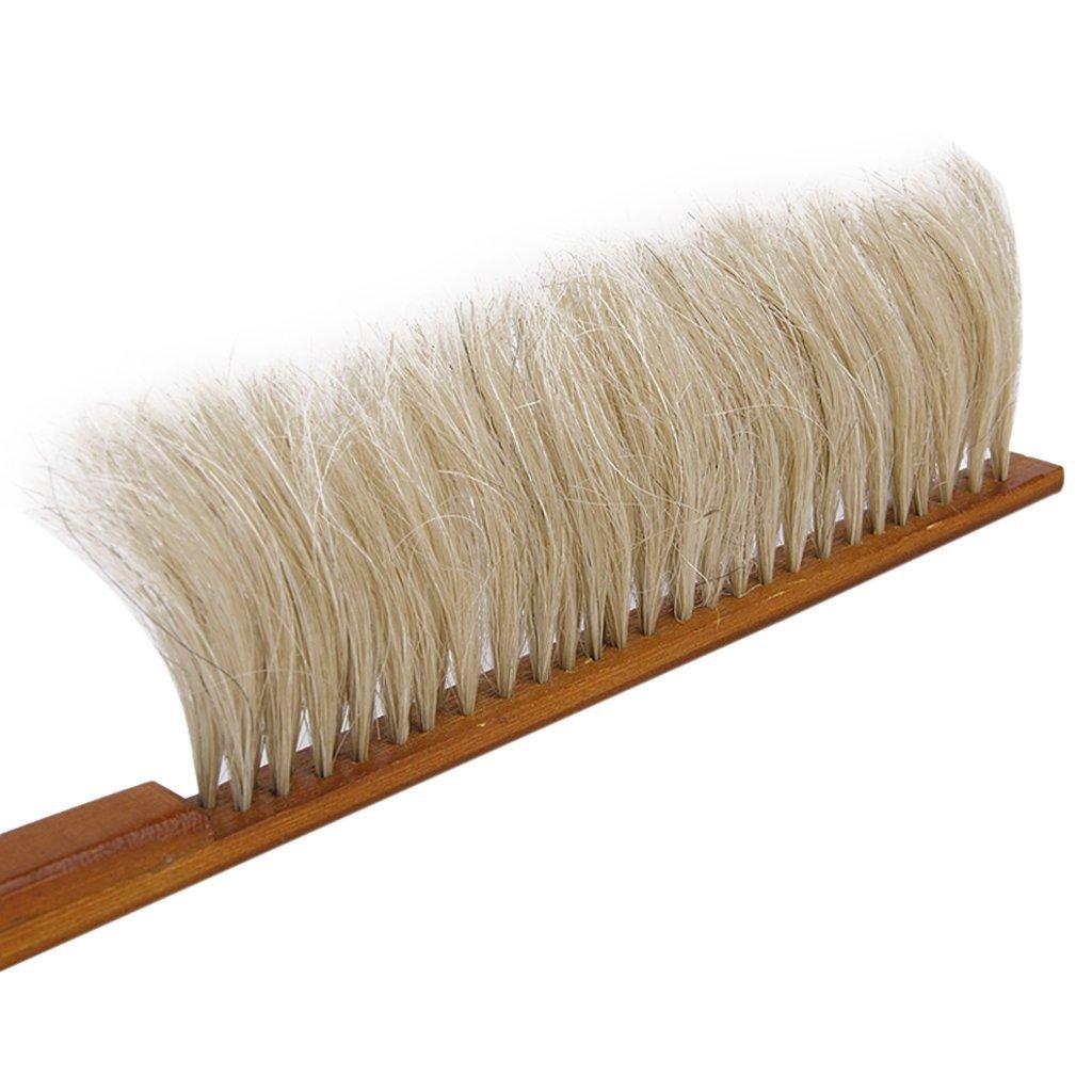 TOOGOO (R) caballo cepillo de cerdas de abeja apicultura crin con mango de madera para apicultor herramienta de la colmena TOOGOO(R)