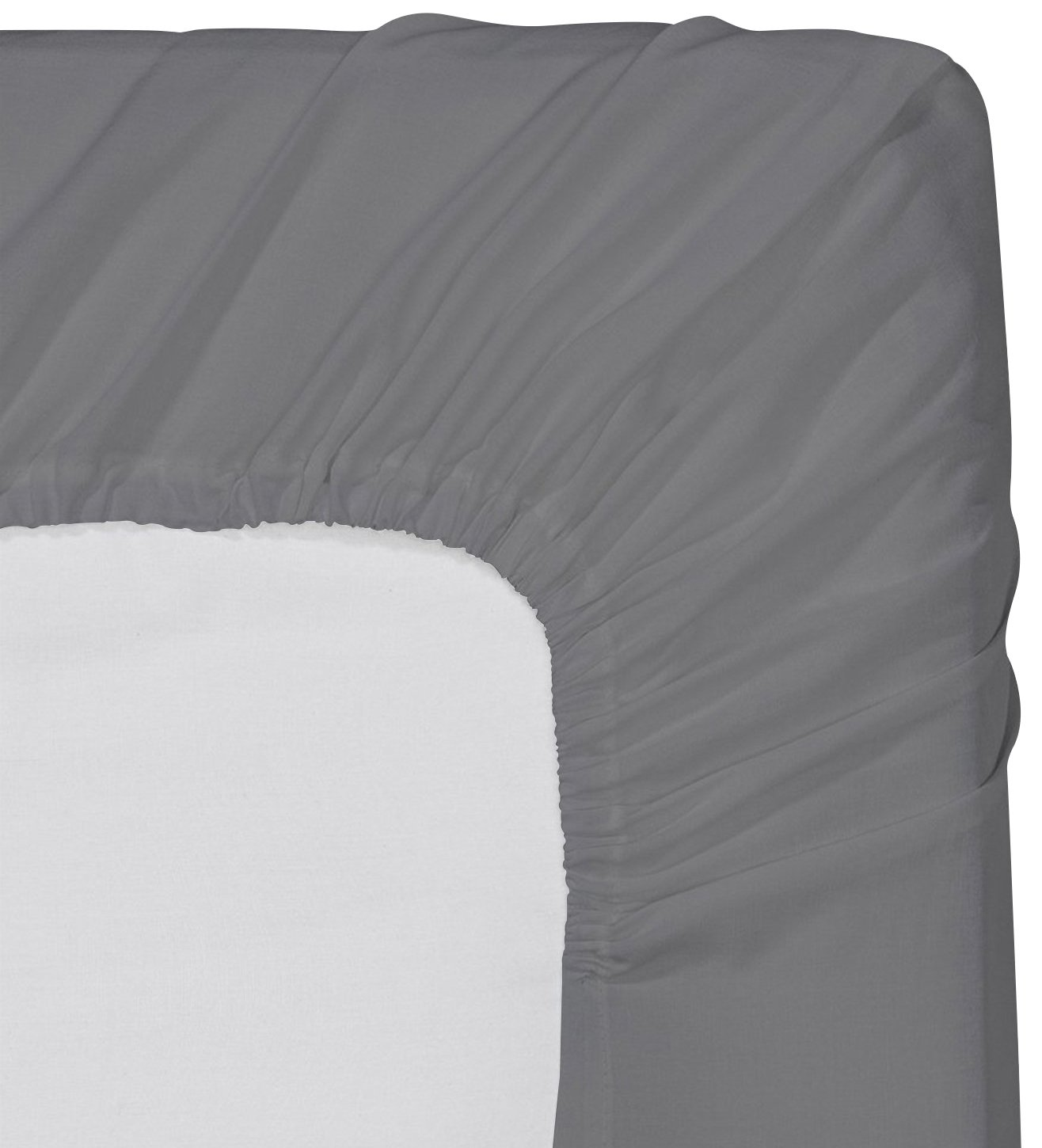 Utopia Bedding Fitted Sheet (Twin - Grey) - Deep Pocket Brushed Microfiber, Breathable, Extra Soft and Comfortable - Wrinkle, Fade, Stain and Abrasion Resistant by Utopia Bedding