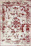 red and brown decor - Unique Loom Sofia Collection Burgundy 4 x 6 Area Rug (4' x 6')