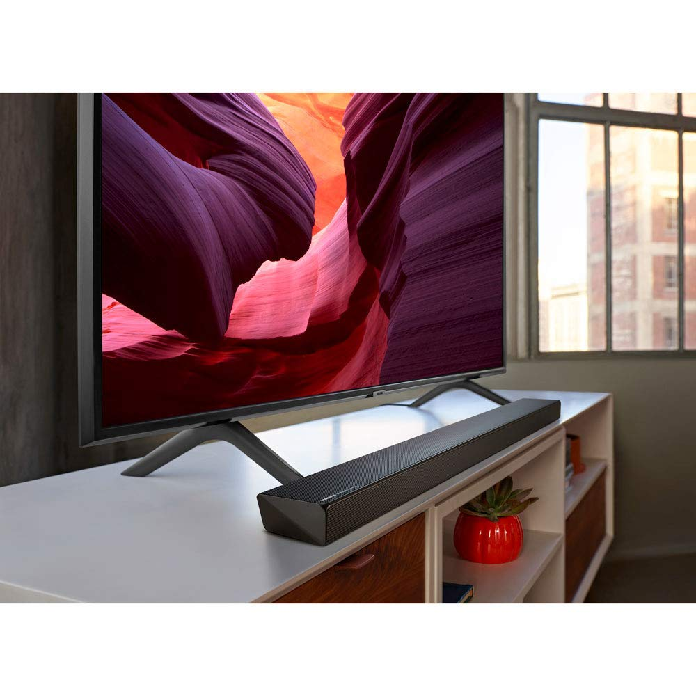 with Harman Kardon HW-Q60R Samsung Acoustic Beam Q60R Series Soundbar 2019 Samsung QN49Q60RAFXZA Flat 49 QLED 4K Q60 Series