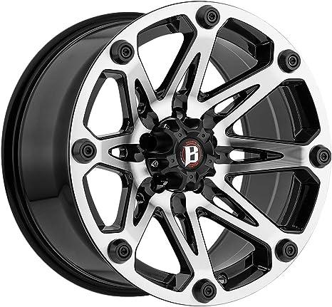 Ballistic Jester 814 Matte Black Wheel 17x9//6x139.7mm