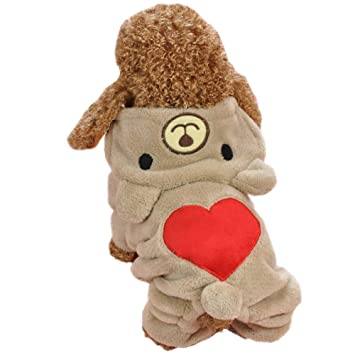 Gahat Mascotas Ropa Mascotas Disfraz Puppy Jumpsuit Outwear Abrigo Ropa Sudadera con Capucha para Teddy, Yorkshire Terrier, Chihuahua, Pomerania: Amazon.es: ...