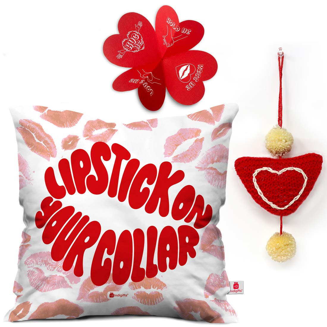 Buy Indi ts Lipstick Your Collar Quote Cushion Cover