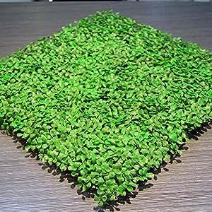 """Uland 12pcs 20""""X20"""" Luz artificial verde Alfombrillas de setos (Madera de boj de plástico UV decorativa Barrera de privacidad de valla de jardín Decoración de Jardín"""