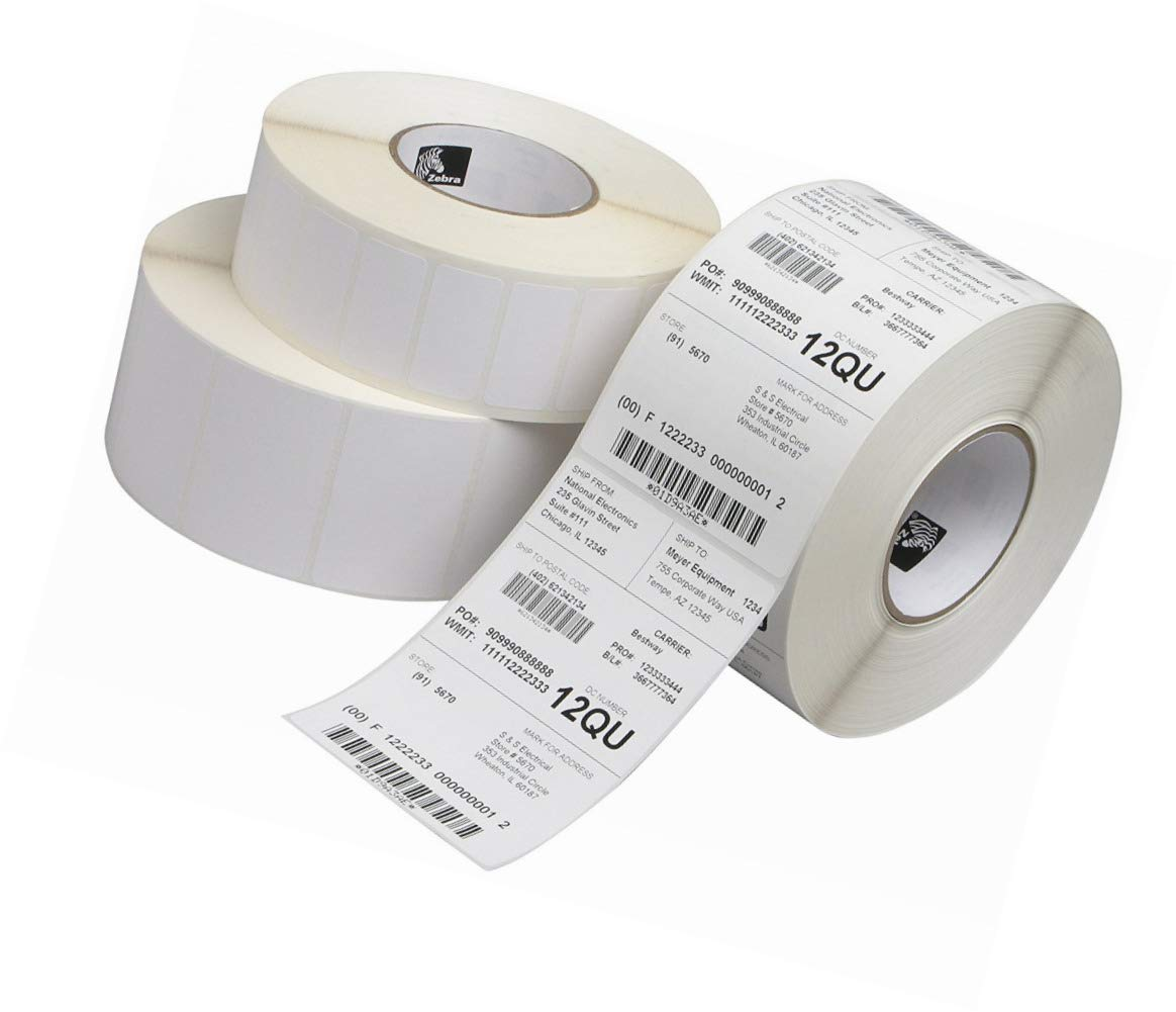 Zebra Label Paper 1.25 x 1in Direct Thermal Zebra Z-Select 4000D 1 in core 10010038 10010038-R