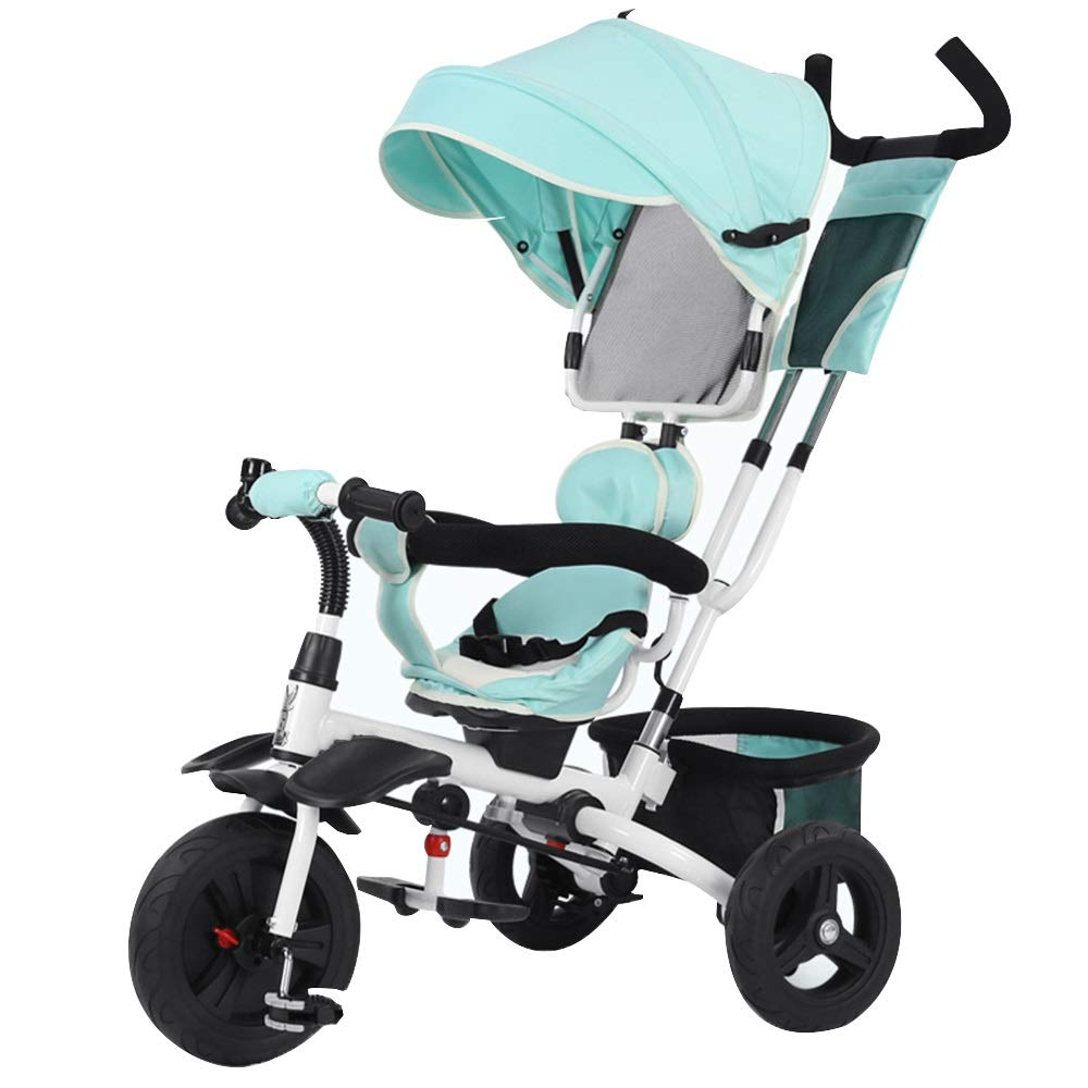 YUMEIGE 子ども用自転車 子供三輪車積載量25 kg 16歳の誕生日プレゼントキッズベビーカー幼児トライク付きオーニング付き(男の子/女の子) 利用できるサイズ   B07QH1L6P7