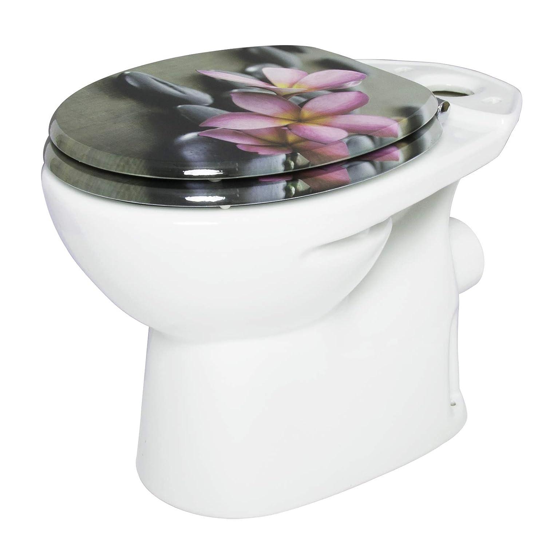 WOLTU Copriwater Sedile WC Universale in Legno MDF Chiusura Ammortizzata Soft Close Toilet Seat Bagno