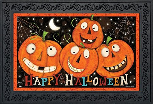 Briarwood Lane Happy Jacks Halloween Doormat Jack O'Lantern Indoor Outdoor 18