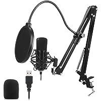 Docooler USB Microphone Kit 192KHZ/24BIT Professional Podcast Condenser Mic for PC Karaoke Studio Recording Mic Kit with…