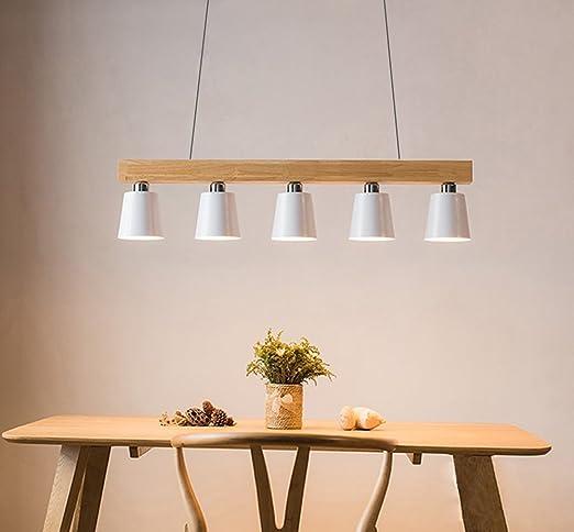 Amazon.com: KJLARS madera isla de cocina luz lineal luz ...