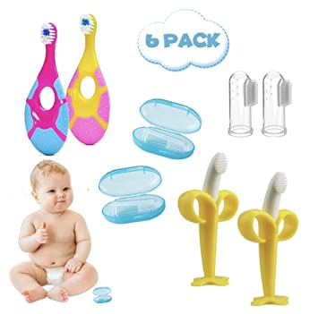 Baby Teething Ring Infant Silicone Training Tooth Toddler Teether chew Toys one