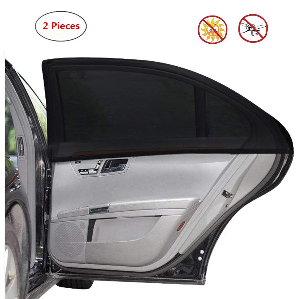 Fits Most Small Medium Cars /& SUVs 2 Pcs Meyall Car Side Window Shade Breathable Mesh Curtain SunShade Backseats Block Harmful UV for Baby Kids Pets Safe Dustproof Anti-mosquito