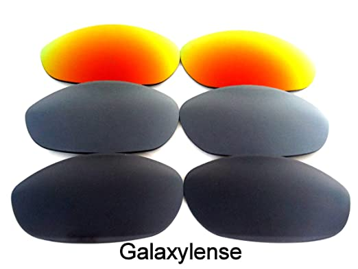 9824ddda96 Replacement Lenses for Oakley Monster Dog Black Gray Red Color 3 Pairs