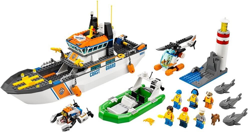 LEGO City Coast Guard Patrol with Helicopter and Minifigures | 60014