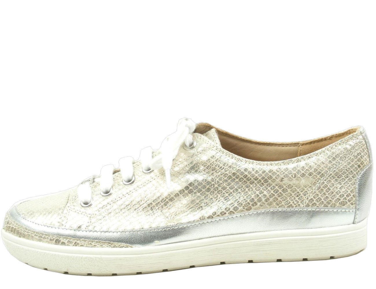 Caprice 23654, Zapatos de Cordones Derby para Mujer 37.5 EU|Light Gold Reptile Print