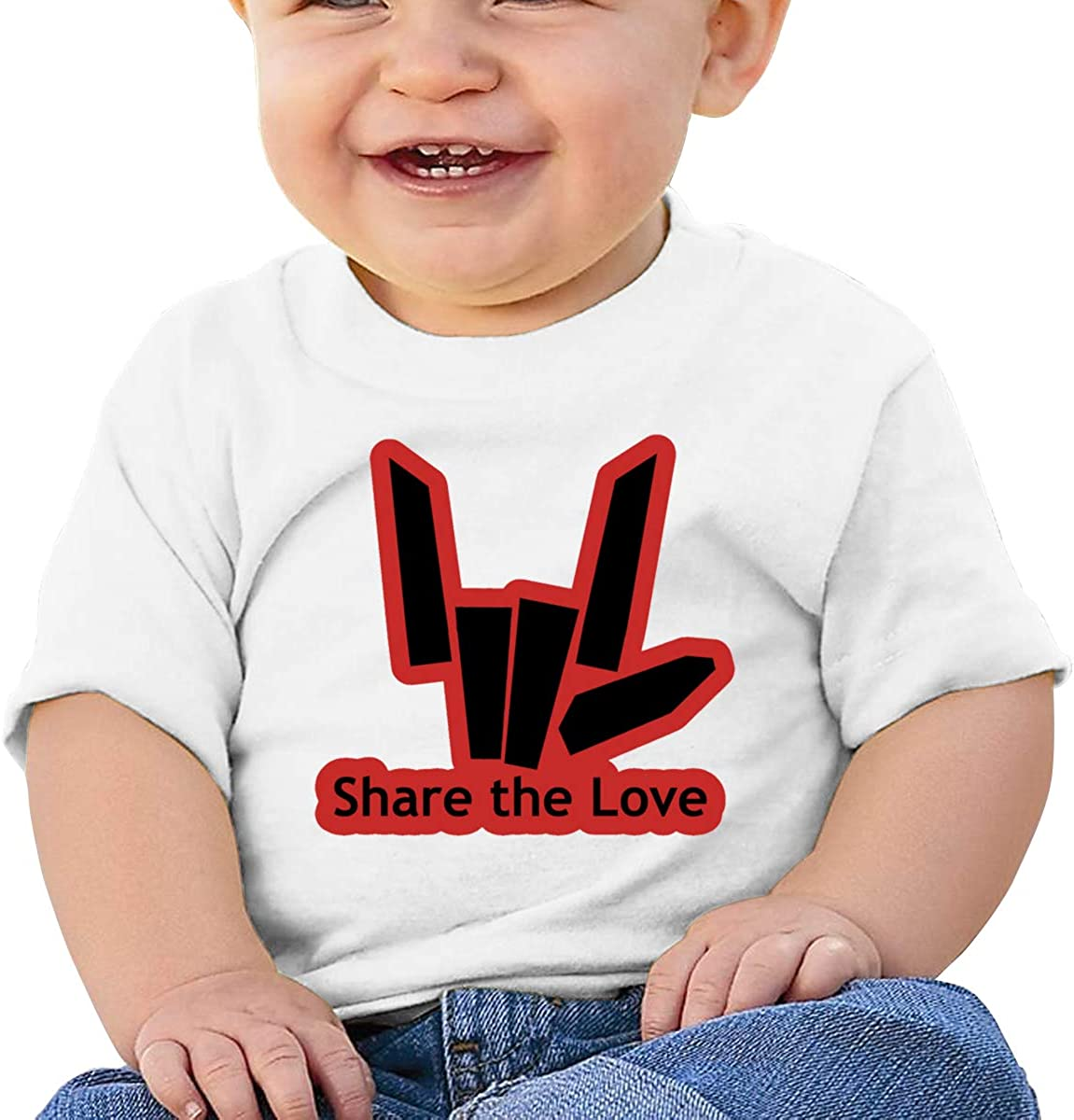 Zippem Share The Love Logo Short Sleeve T-Shirt Best for Baby Toddler//Infant Kids T-Shirt Close Skin Soft
