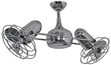 39u0026quot; Matthews Dagny Chrome Double Headed Ceiling Fan