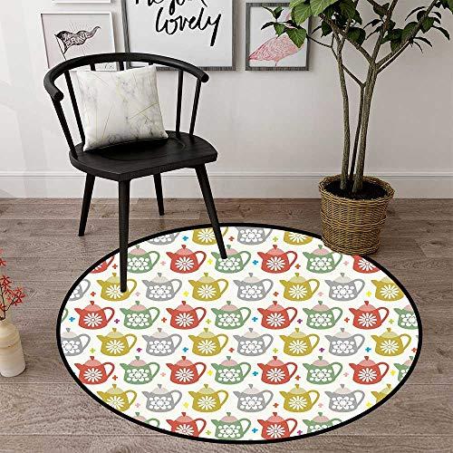 Circularity Floor mat Non Slip Round Indoor Floor mat Entrance Circle Floor mat for Office Chair Wood Floor Circle Floor mat Office Round mat for Living Room Pattern 2' Diameter