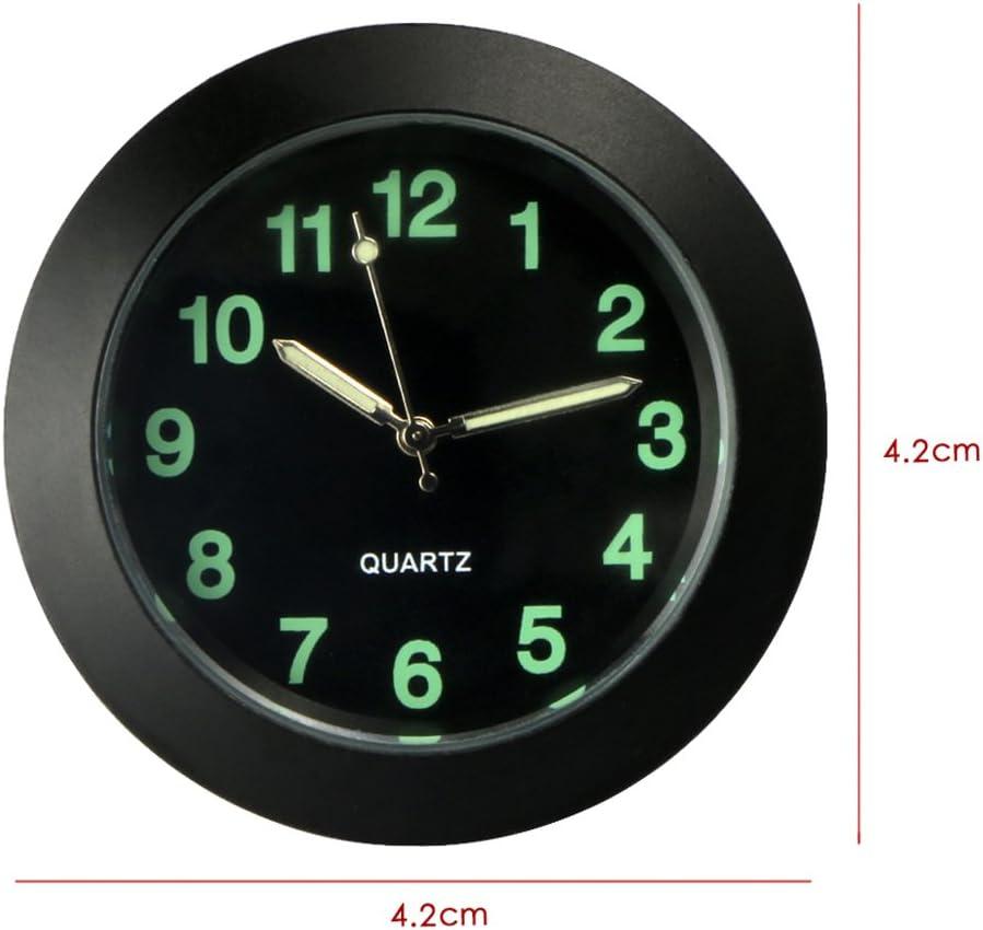 Vorcool Universal Uhr Für Auto Luftzufuhr Elektronisch Nachtlicht Leuchtende Quarz Zeiger Für Auto Dekoration Im Innenbereich Schwarz Auto