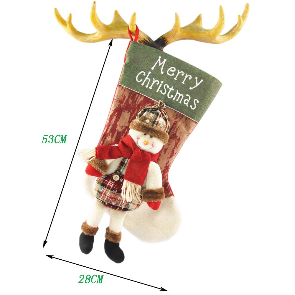 TOYESS 3Pcs/Set Grande Media de Navidad Colgante Calcetín de Navidad ...