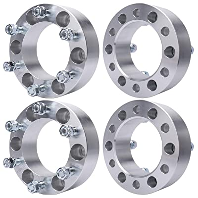MAYASAF Wheel Spacer Adaptor for Toyota Tacoma/Tundra/4Runner/Sequoia, Mazda Mitsubishi Isuzu Pickup, Chevy GMC Dodge Lexus Honda Hyundai Plymouth Acura, 6X5.5/108mm Bore, [6 Lugs, 2 Inch, 4 Pack]: Automotive