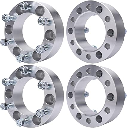 "6Lug Billet 108mm Bore, 12x1.5 Studs 4pc 1.5/"" 6x5.5 to 6x5.5 Wheel Spacers"