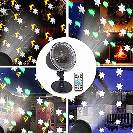 Halloween Christmas Projector Lights, Weepong IP65 Waterproof Indoor  Outdoor Led Snowflake Light Projector with Remote Control for Xmas Tree  Holiday