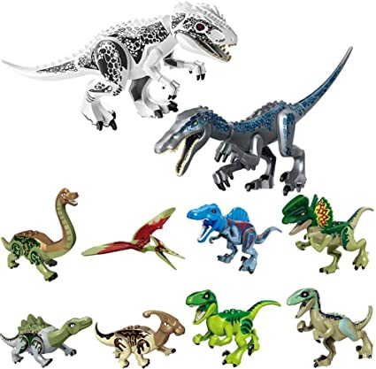 Building Puzzle Assembled Early Toys 8 Children Blocks Dinosaurs Learning