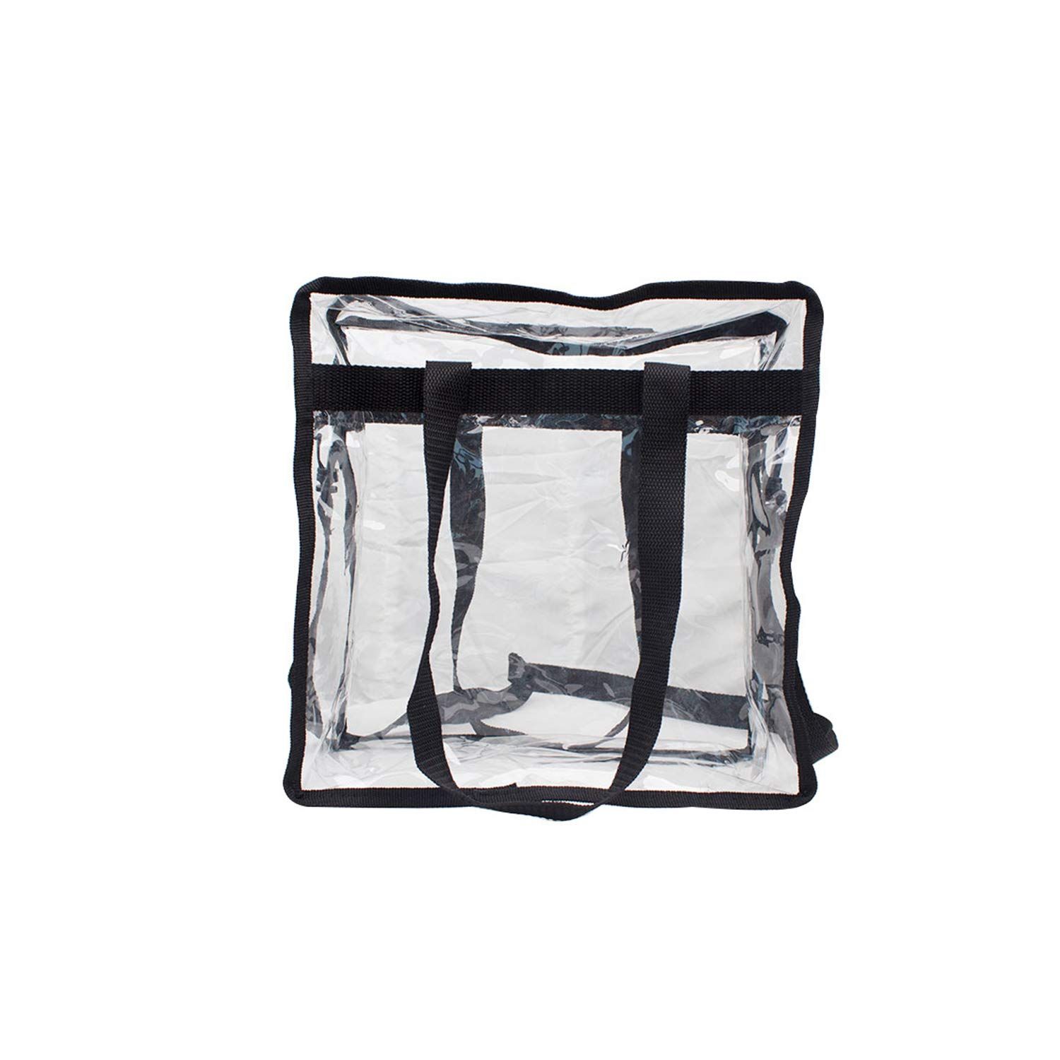 """Premium Clear Stadium Approved Bag - Clear Tote Bag with Cross Body Messenger Adjustable Shoulder Strap-12"""" X 12"""" X 6"""" by Zuess (Image #5)"""