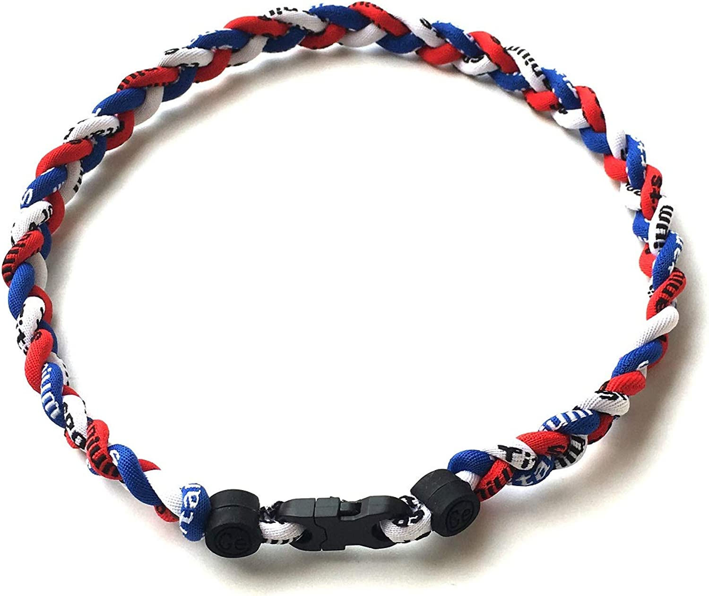 CEBuy 2 Rope Braided Tornado Titanium Sport Baseball Necklace 18 /& Bracelet 7 for Boys