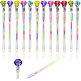 Jiada Crystal Diamond Pens, Six Color In One Gel Ink Pen, Colorful Gel Ink Pen Set, 0.8mm, Pack Of 12 - Get Fridge Magnets