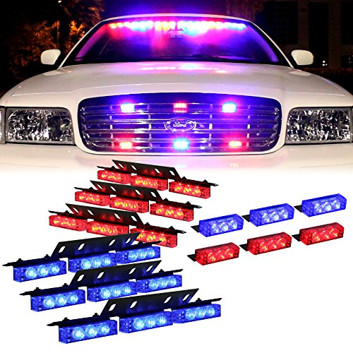red and blue led strobe lights - 9