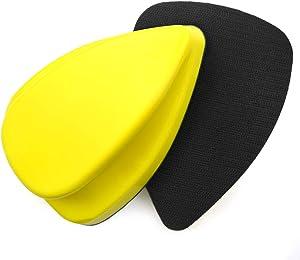 140mm Hand Detail Sander Block, Detail Sandpaper Hand Sanding Pads, No-slip Mouse Hook and Loop Sanding Blocks for Mouse Sandpaper, Manual Sander for Narrow Corner, Slit, Detailing Polishing, 2-Pack