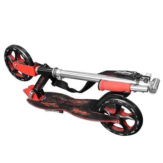 Physionics - Patinete plegable con dos ruedas y manillar - Racingheart: Amazon.es: Juguetes y juegos