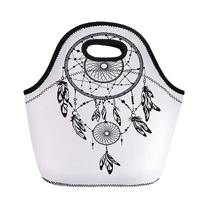 08d2aeead59f Amazon.com: Semtomn Lunch Tote Bag Aztec Native American Dream ...
