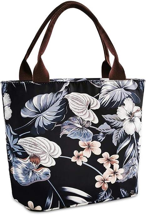 Floral Tote Bag-Library Bag-Modern Garden-Book Bag-Gift Bag