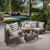 Venice Outdoor 5 PC Wicker Sofa Sectional Set For Sale