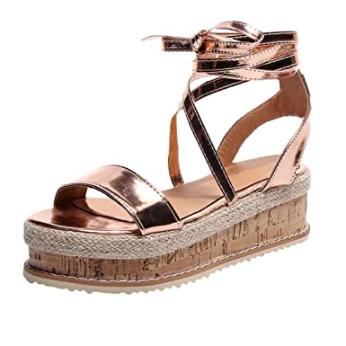148c7639de947 Amazon.com: Nevera Women's Shoes Ethnic Toe Platform Wedge Sling ...