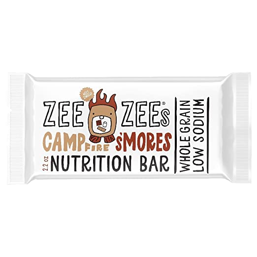 Zee Zees Whole Grain Soft Baked Bars, Campfire S'mores, 2 2 oz Bars, 24 pack
