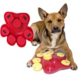 Dog Food Treat Dispensing Boredom Interactive Game Puzzle Training Finder Toys, iMichelle Paw Hide Treats Toy Slow Feeder Bowl Helps Prevent Bloating/Upset/Diarrhea,Entertaining and Brain-Engaging