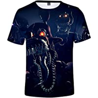 CBSTD Camiseta de 3 a 14 años FNAF 3D Camiseta de niño FNAF Camisetas Cinco Noches en Freddy Streetwear Camiseta Anime…