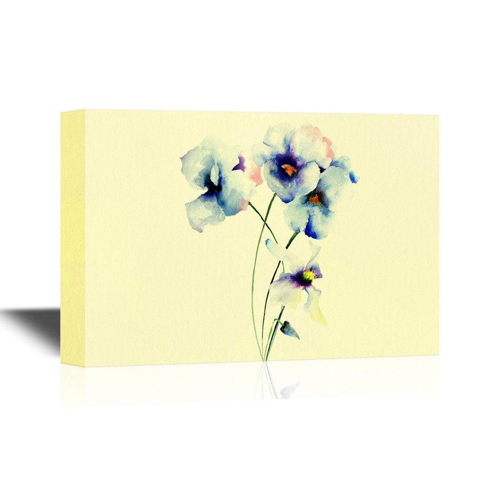 wall26 Pansy Flower Canvas Wall Art - Watercolor Pansy Flower ...