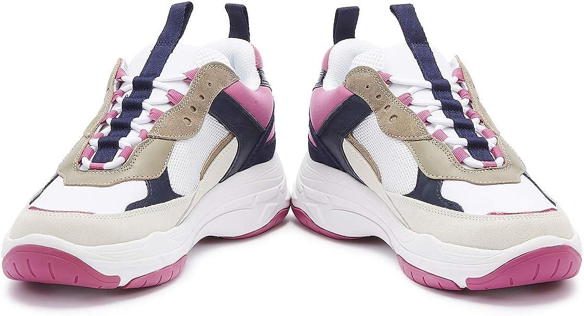 Calvin Klein Jeans Maya Femmes Blanc/rose/bleu Basket White Pink Blue