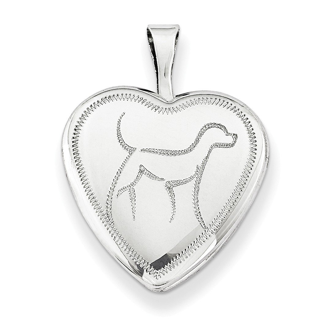 ICE CARATS 925 Sterling Silver 16mm Dog Heart Photo Pendant Charm Locket Chain Necklace That Holds Pictures W/chain Fine Jewelry Ideal Gifts For Women Gift Set From Heart