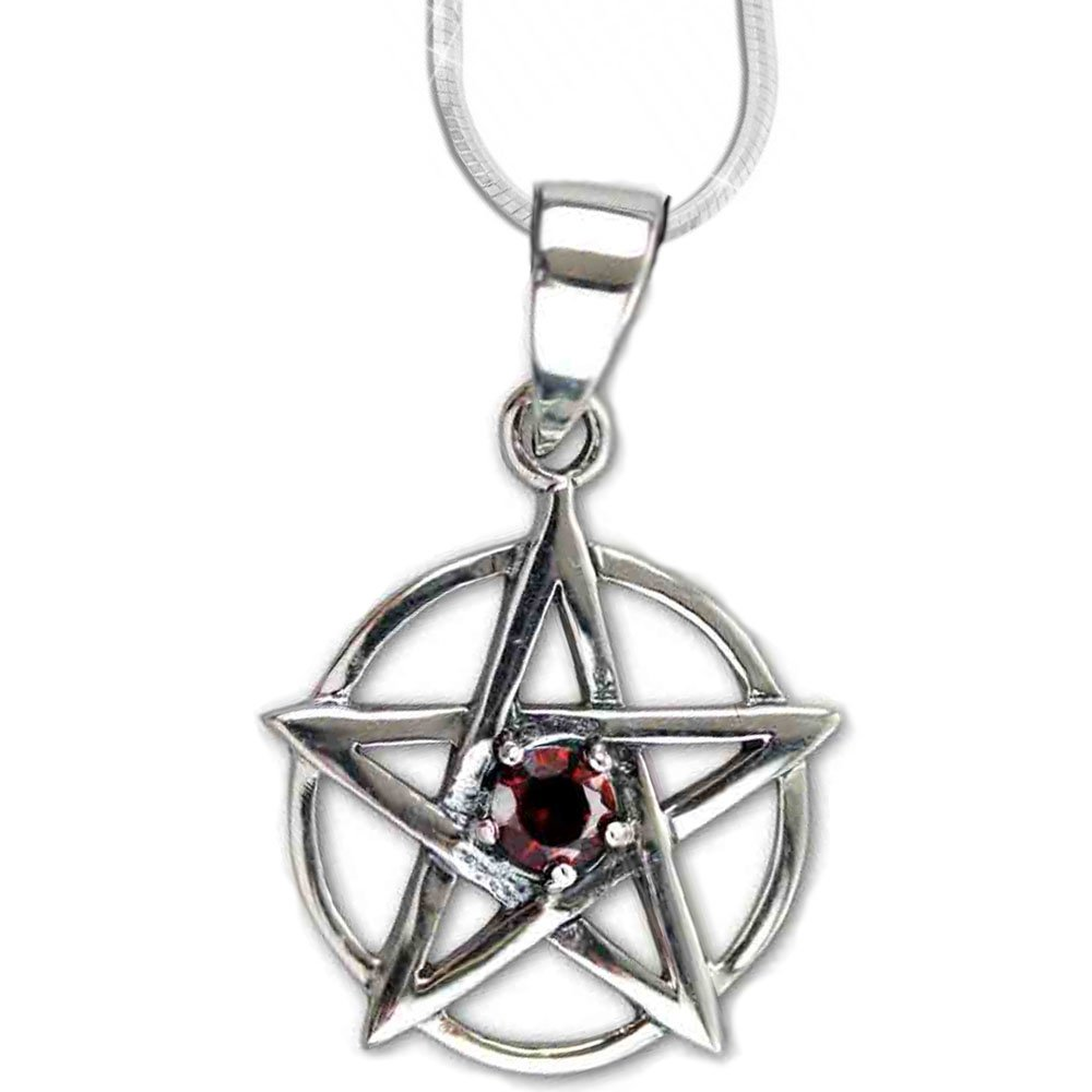 Pentagramm Ohrringe Ohrschmuck Anhänger Silber Metall